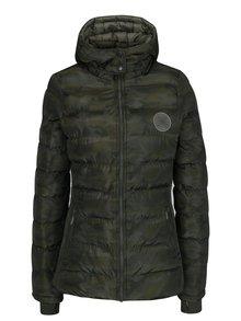 Khaki dámská maskáčová bunda s kapucí Cars Sanny