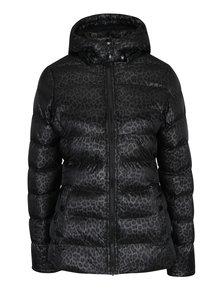 Černá dámská prošívaná vzorovaná bunda s kapucí Cars Metti