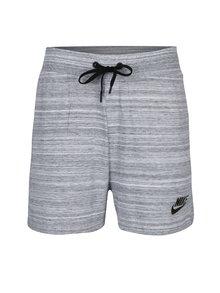Světle šedé žíhané dámské kraťasy Nike Sportswear Advance 15