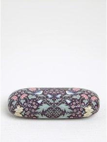 Tmavofialové kvetované púzdro na okuliare Sass & Belle Midnight Garden