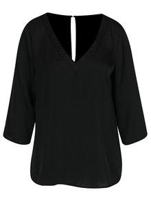 Bluză neagră cu mâneci 3/4 VILA Rustic