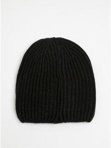 Černá žebrovaná čepice ONLY Pinkie