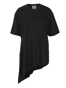 Tmavosivé dámske voľné asymetrické tričko Cheap Monday