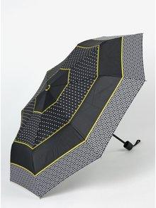 Umbrela neagra cu print pentru femei Derby