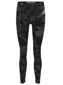 Colanți sport negri cu print abstract pentru femei  Nike Sportswear Glacier