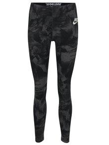 Černo-šedé dámské vzorované sportovní legíny Nike Sportswear Glacier