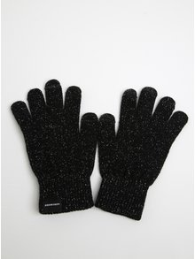 Čierne trblietavé rukavice VERO MODA Vilde