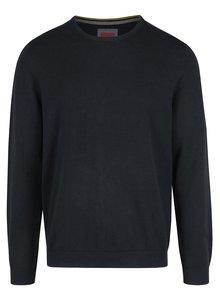 Tmavomodrý pánsky sveter s výšivkou s.Oliver
