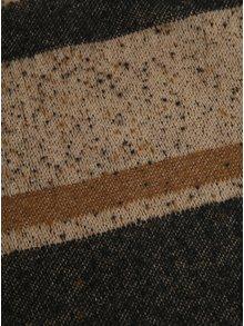 Hnedý vzorovaný šál so strapcami VERO MODA Marah