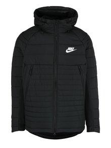 Černá pánská zimní prošívaná bunda s kapucí Nike Sportswear Fill