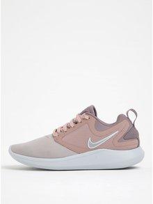 Světle růžové dámské tenisky na platformě Nike Lunarsolo