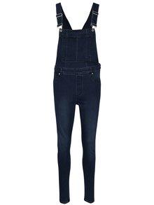 Tmavomodré dámske rifľové trakové nohavice s vysokým pásom Cheap Monday