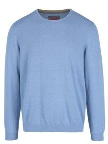 Svetlomodrý pánsky sveter s výšivkou s.Oliver
