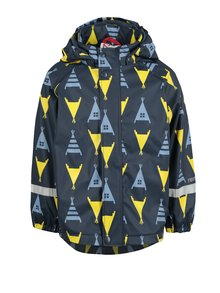 Tmavomodrá chlapčenská funkčná bunda s kapucňou Reima Koski