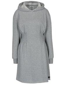Sivé mikinové šaty s kapucňou Cheap Monday