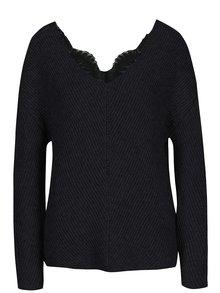 Čierny sveter s prímesou vlny z alpaky VERO MODA Buena