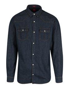 Tmavě modrá pánská džínová slim košile s.Oliver