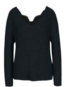 Tmavozelený sveter s prímesou vlny z alpaky VERO MODA Buena