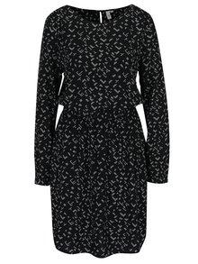 Bílo-černé vzorované šaty s dlouhým rukávem QS by s.Oliver