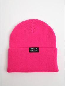 Căciulă unisex roz cu logo-  Cheap Monday