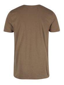 Tricou maro cu print pentru barbati Garcia Jeans