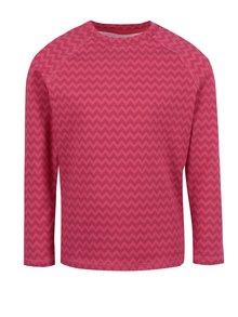 Ružové dievčenské funkčné tričko s dlhým rukávom Reima Tiptoe