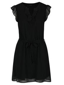 Rochie neagră cu volane VERO MODA Lisa