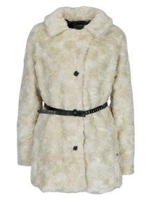 Krémový dámský kabát z umělé kožešiny Garcia Jeans