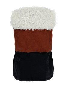 Vesta crem&maro din blana artificiala pentru femei - Garcia Jeans
