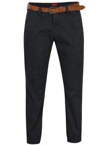Tmavě šedé dámské slim fit chino kalhoty s páskem s.Oliver