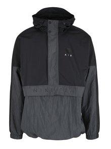 Čierna pánska bunda s kapucňou Nike Sportswear Air