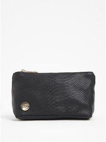 Portfard negru cu aspect de piele de reptilă -  Mi-Pac Make Up Bag
