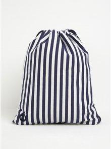 Krémovo-modrý pruhovaný vak Mi-Pac Kit Bag Seaside Stripe