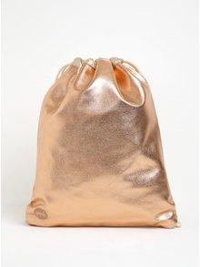 Rucsac auriu rose Mi-Pac Kit Bag Metallic cu aspect metalic