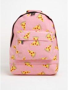 Rucsac roz cu print pizza  Mi-Pac Pizza 17 l