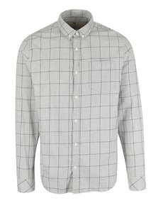 Světle šedá pánská kostkovaná košile Garcia Jeans
