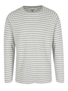 Krémovo-šedé pánské tričko s dlouhým rukávem Garcia Jeans