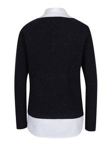 Pulover - cămașă bleumarin cu aspect 2 în 1 - s.Oliver