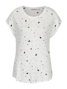 Krémové dámské tričko s výšivkou Garcia Jeans