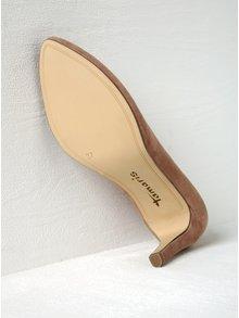Pantofi roz pudrat din piele intoarsa cu toc inalt - Tamaris