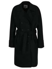 Čierny dámsky kabát s gombíkmi Garcia Jeans
