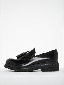 Pantofi negri cu ciucuri decorativi - Tamaris
