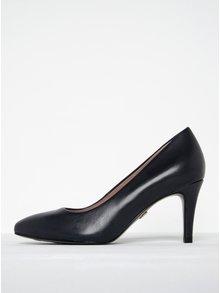 Pantofi bleumarin cu toc cui din piele Tamaris