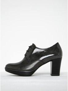 Pantofi gri închis cu detalii lucioase - Tamaris