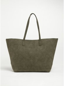 Khaki shopper Pieces Jenica