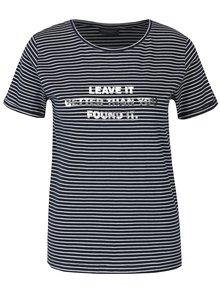 Tmavě modré dámské pruhované tričko Broadway Maike