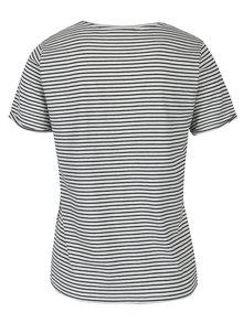 Biele dámske pruhované tričko Broadway Maike