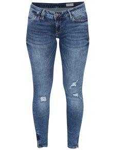 Blugi albaștri cu fermoar la gleznă Cross Jeans