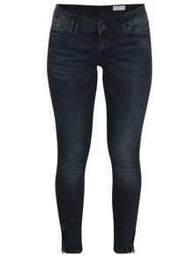 Blugi negri cu fermoar la gleznă Cross Jeans