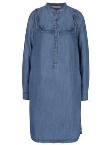 Rochie camasa midi albastru deschis din denim - Garcia Jeans